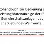 Fotohandbuch Bedienung Leistungsdatenanzeige